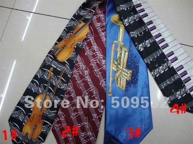 newdesign Necktie wholesale /men neckties/ music tie /fashion tie/skinny necktie/stylish tieLD05(China (Mainland))