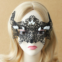 Wholesale new Halloween Masquerade Gothic Sexy Lady Lace Mask Party Accessories Black MJ-25