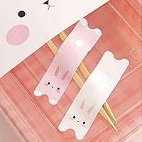 Rabbit Sticker Set (Pink & White) 600pcs/lot