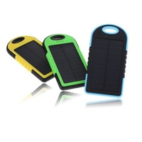 Portable 5000MAH Solar Power Bank Battery Charger Backup For iPhone 6 Plus 5S 5C