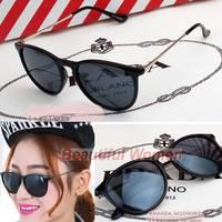 2014 High Quality Unisex Retro Round Eyeglasses Metal Frame Leg Spectacles Sunglasses SV000633