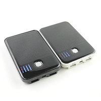 5000mAh PianoBlack Ultrathin Portable Emergency Solar Power Batterry Charge