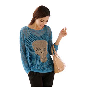Plus size skeleton sweater