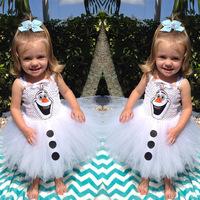 The 2014 Summer Romance series , girls silk sling Snowman gauze dress