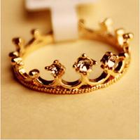 $10 (mix order) New Fashion Flash Drill Crown Ring Jewelry Shiny Elegant Beauty R4107 3g