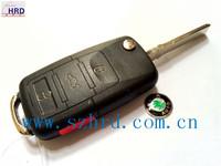 Free shipping high quality car folding remote key shell case for Volkswagen VW skoda