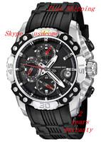 New Men's Tour de France Chronograph F16543/3 Black Rubber Analog Quartz Watch Original Box