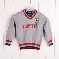 HOT SALE! Free Shipping 5pcs/lot Newest Cotton Fashion Baby Boy Sweaters Baby Boy Pullovers Baby Costumes 4Colors 3418