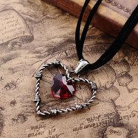 The Prisoner of love heart Pendant Necklace Retro Punk Gothic Jewelry Titanium Alloy Nacklace (Min order 1 piece)