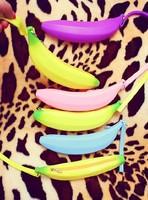 Fashion Women Silicone Coin Purse Candy Color Banana Silicone Coin bag Mini Coin Wallet Bag Wallets Girls purse clutch purse