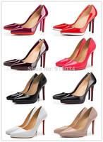 Free shipping 12cm red bottom high heels platform women pumps patent leather high heel shoes stiletto heels sapatos femininos