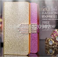Luxury Glitter Diamond PU Leather Case For Gigabyte Gsmart T4 Mobile Phone