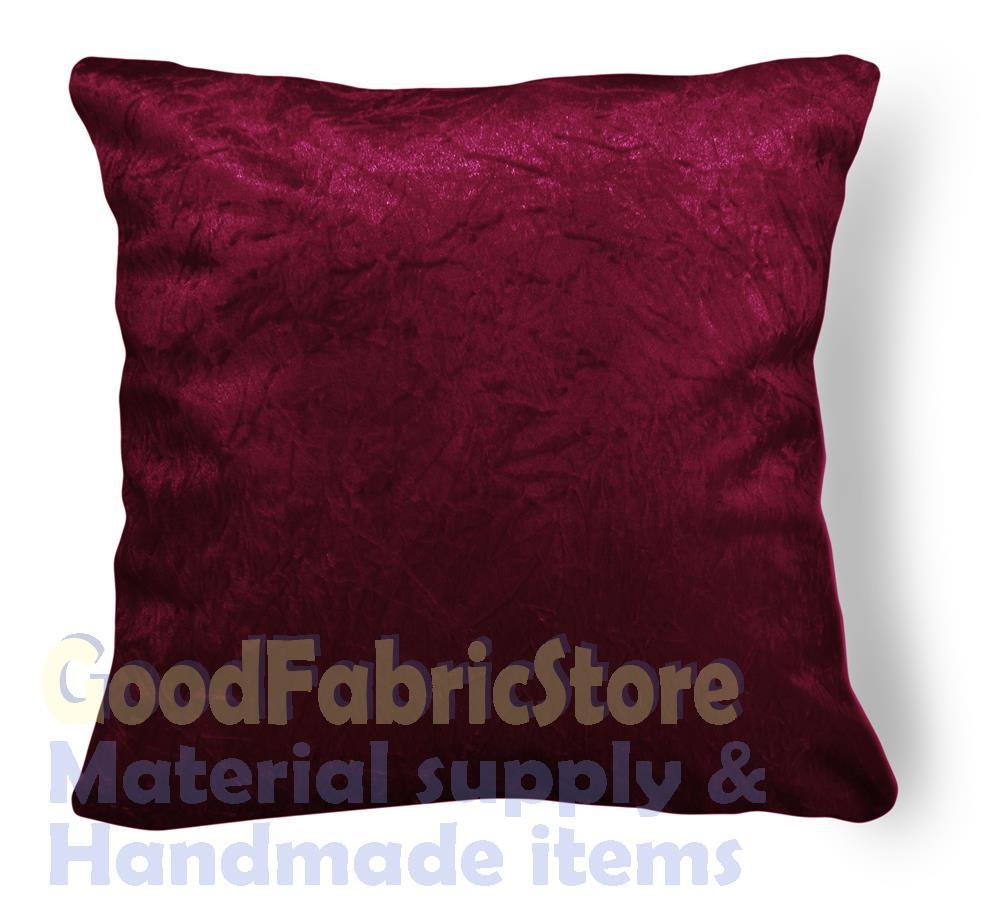 """mn 113a Deep Wine Red Crushed Velvet Style Cushion Cover/Pillow Case * Custom Size *-16x16 18x18 18""""x18"""" *19x19 20x20 24x24(China (Mainland))"""