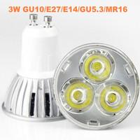 300X LED Spot light 3W GU10/E27/GU5.3/MR16 lamp Warm White cold white bulb Spotlight Free Shipping