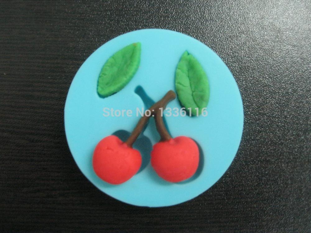 Free shipping Cherry Shape silicone mold Fruit chocolate Silicone Mold for Soap, Chocolate Moulds,FA-617(China (Mainland))