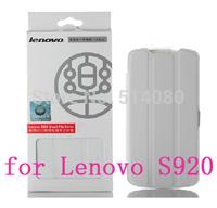 100% Original Lenovo S920 Case Wake Sleep Smart Dormancy Leather Case For Lenovo S920 Case + Screen Protector + Retailed Package