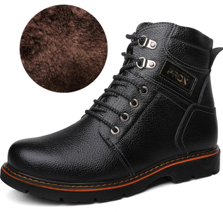 2015 Men Winter Fashion Snow Boots Men Genuine Leather Warm shoes Men Outdoor Leisure Martin Boots England Retro M 568(China (Mainland))