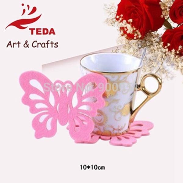 2015 handmade Thanksgiving Felt butterfly mat decoration ,christmas,home decoration(China (Mainland))