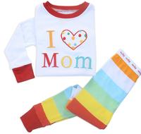 New 2014 kids girls boys winter pajamas sets baby soft cotton pijamas long sleeve christmas pyjamas clothes suit