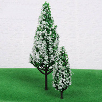 Model pine tree with Snow  Plastic model tree  high is 65mm