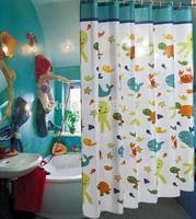 11 SIZES Tortoise fish cartoon polyester shower curtain waterproof thickening bath curtain LM008