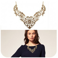 Top quality ,Fashion Heavy metal filigree lace effect luxurious ladies short necklace ,free shipping,best gift for Children