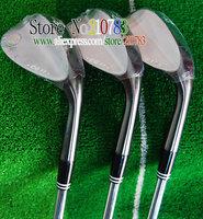 New Golf Clubs CG17 black Golf Wedges set 52.54.56.58.60 Loft 3pc/lot steel shaft Club Wedges Golf  EMS Free Shipping