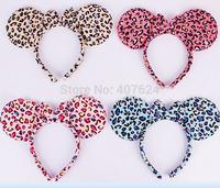 20PCS/Lot Children's Day Mickey ear headband Chiristmas mickey mouse ears headband 4colors Available Free Shipping