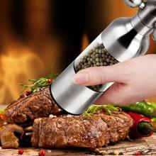 Stainless steel pepper Faucets grinder manual black pepper grinder Salt grinding seasoning bottle(NO.1 2 3),delicious steak(China (Mainland))