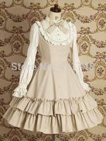Japanese Lolita princess dress long-sleeved mori girl lace vintage dress customized cosplay fantasia halloween femininas