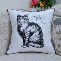 Cute kittens animals throw pillowcase,45cm*45cm sofa cushion cover, car/office cushions cover,pillow cover 1PCS