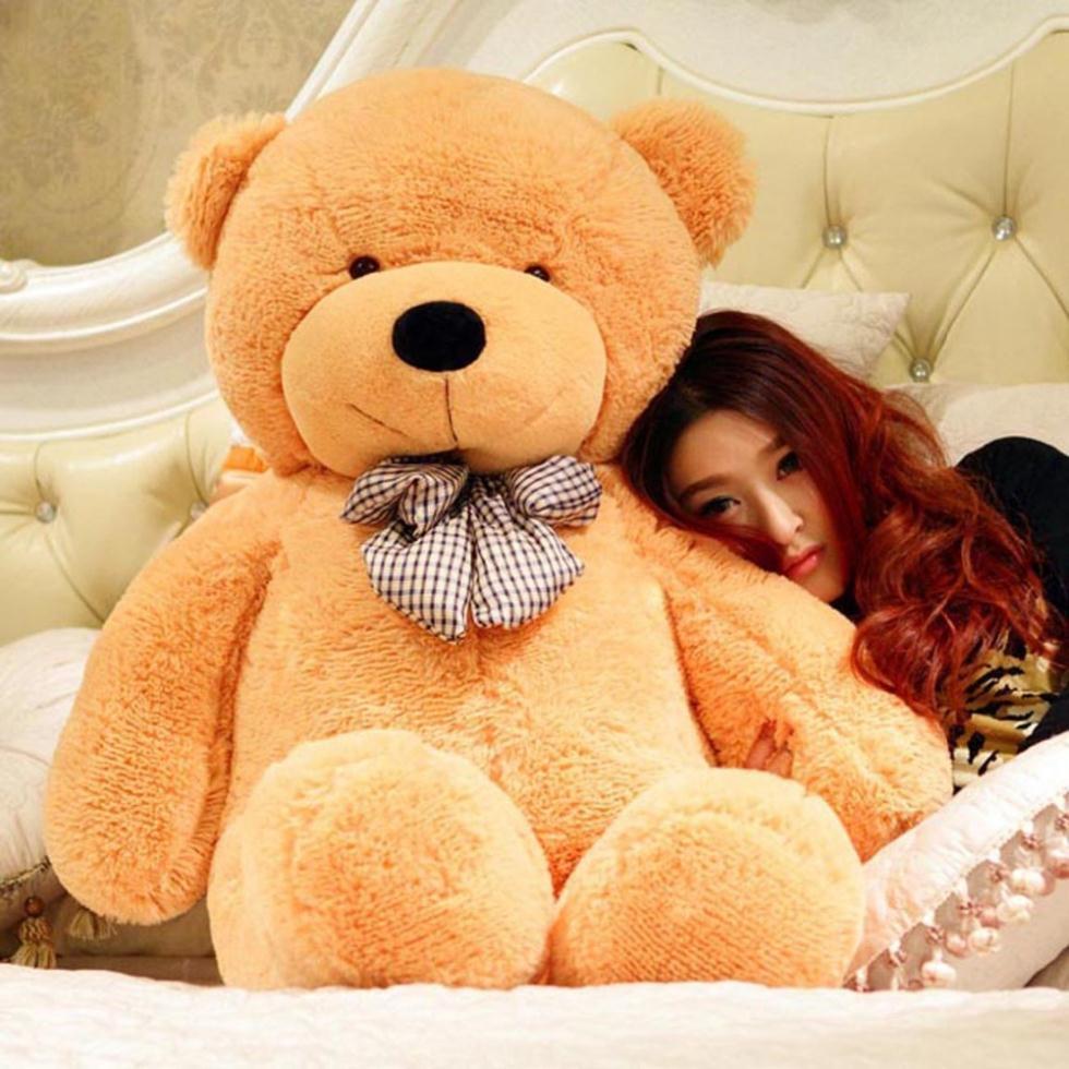 2015 Hot lovely 80 CM Big Plush Huge Teddy Bear Skin Soft Cotton Animal Birthday Toy Gift Shell Skin(China (Mainland))
