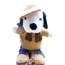 Grátis frete big size 120 cm / 1.2 m alta qualidade gigante cachorro de pelúcia com chapéu bonito bichos de pelúcia macia pp algodão bebê brinquedos(China (Mainland))