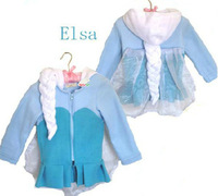 BC114 2014 New princess for frozen girl's outerwear fashion good quality child's jacket kid's coats free shipping retail