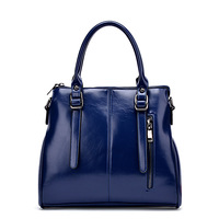 New 2015 Designer Women bag  High quality oil wax leather handbags Fashion Professional Women packets  Latest style shoulder bag