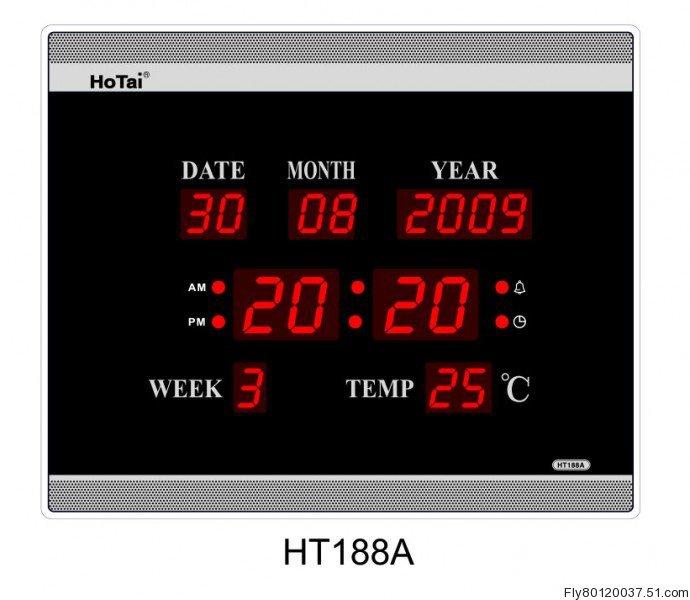 Large LED digital wall clock EU plug power crystal electronic calendar digital alarm clock desktop clock despertador digital 30(China (Mainland))