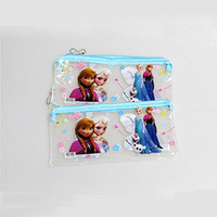 Free Shipping high-quality Waterproof nylon Frozen Pencil bag&New arrival two colors of blue pink children's cartoon Pencil case