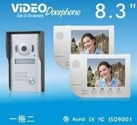 Zhudele 8.3 Inch Video Door  Phone, IR HD Camera , waterproof   1V2
