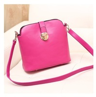 Ladies bag 2014 new trend of female  Candy-colored diagonal shoulder bag slung packet PU Faux Leather Messenger bags