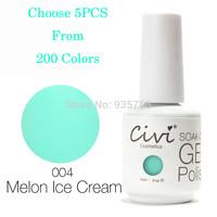 Civi Nail Gel UV Gel Polish 200 Gorgeous Colors The Best Gel nail Polish Choose 5pcs