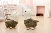 Free Shipping~ Wholesale 2Pieces/lot  25cm Super cartoon alpaca wool toy plush dolls lamb doll children's day gift