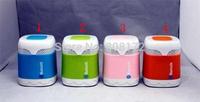 BL003 Car Handsfree Bluetooth Mini Speaker Dual Color Wireless Speakers TF Card Slot FM Radio Player Box  free shipping ZKT