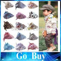 Free shipping YF1019 aby Kid Toddler Bandana Baby Bibs Saliva Towel Dribble Triangle boy girls cotton Head Scarf