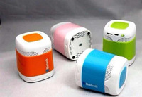 BL003 Car Handsfree Bluetooth Mini Speaker Dual Color Wireless Speakers TF Card Slot FM Radio Player Box DHL free shipping ZKT