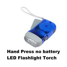 3 LED Dynamo Hand Press Flashlight Torch No Battery New N US#V(China (Mainland))