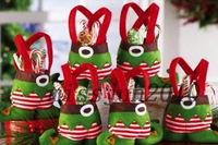 Brand new 2014 Christmas Santa Elf Spirit Pants Candy Gift Bag Sweet Sack Stocking Filler dm Free shipping