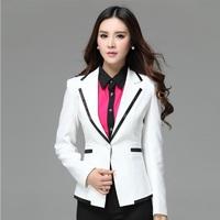 Formal Branco Blazers Feminino Blaser Women Blazers and Jackets Winter White Ladies Professional Clothes Office Uniform Styles