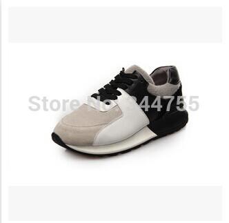 2015 Top qualidade outono nova plataforma de moda de viagem sapato de couro genuíno Casual mulheres marca Huaraches tênis(China (Mainland))