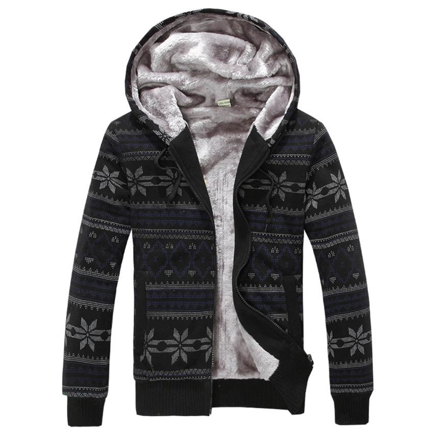 New Men's Fashion Brand Quality Gift Knitting Snowflake Fleece Hoodies Men Tracksuit Cardigan Free Shipping(China (Mainland))