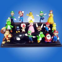 """1.5~2.5"""" A Super Mario Bros Lot 18 pcs Action Figure Cute Doll New"""